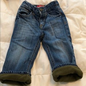 Old Navy Fleece-Lined Jeans, Size 18-24M
